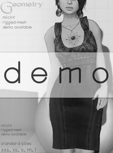 Geometry . Samantha . DEMO  ( rigged mesh in standard sizing )