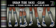 .:A&M:. Urban Tube Socks - Clear - Unisex