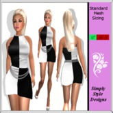 Black and White Chain Mini Dress