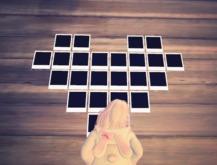 Heart Shaped Polaroid Frame