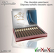 Aphrodite dark chocolate cigars box
