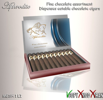 Aphrodite dark chocolate cigars box- Special fathers day gift for dad!