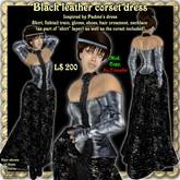 Wunderlich's Black Leather corset dress