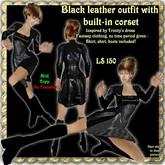 """Wunderlich's """"Trinity"""" - Black Leather dress"""