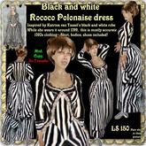 Wunderlich's striped Rococo Polonaise dress