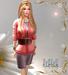 M&M-NEILA DRESS MESH ORANGE
