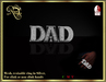 """Dad"" mesh ring (platinum)"