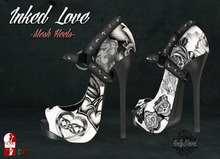 .HW. Inked Love - Heels // White (wear)