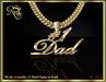 #1 Dad mesh chain (gold)