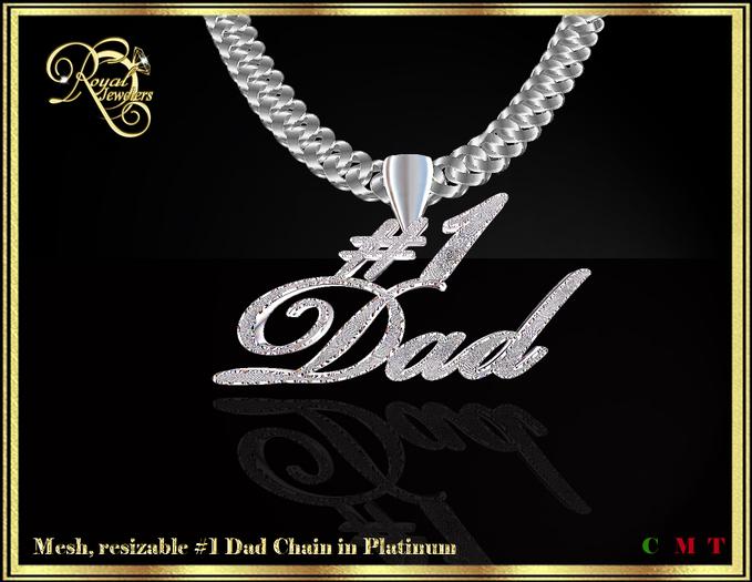 #1 Dad mesh chain (platinum)