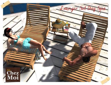 Set Wooden Lounge Day Spa ♥ CHEZ MOI