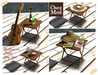 Wooden table multiscene day spa