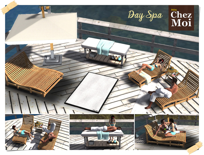 ♥ CHEZ MOI FURNITURES ♥ Day Spa Multiposes