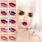 DEMO Oceane - Jade Pink and Purple lipsticks Pack 2