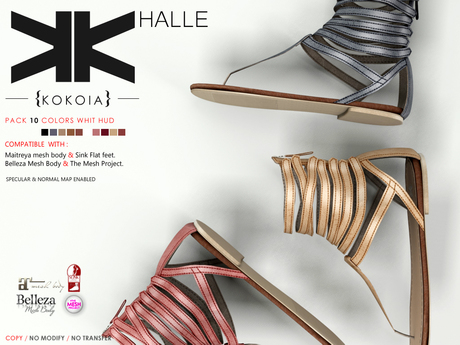 Halle :: Woman :: 10 Colors :: {kokoia}  / MAITREYA, BELLEZA, SLINK, MESHPROJECT