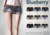 Blueberry letia ripped denim skirts2