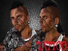 tribal moitie visage