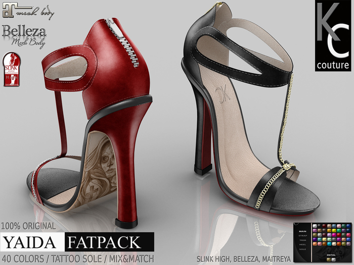 .:KC:. YAIDA Heels / Slink High, Maitreya, Belleza / 100% ORIGINAL