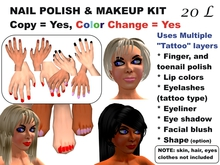 OnP Nail Polish and Makeup Kit