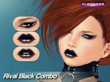 .:Glamorize:. Rival Black Combo Makeup For System Avatars