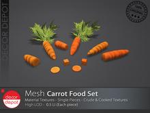 [DD] - FULL PERM  Carrot Food Set