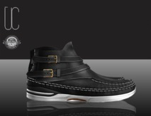 UC moc folk boat shoe men black