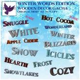 [ free bird ] Winter Words - Snowflakes