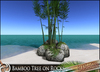 HeadHunter's Island - Bamboo tree/plant cluster on reef rocks- 16m tall - green tone - MESH