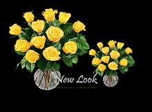 FREE INWORLD Princess Yellow Roses in a Vase 1 Prim Mesh (plane) with Resizer and Fullbright Option