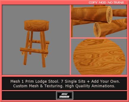 Second Life Marketplace Basic Pentagram Bench 11 Poses