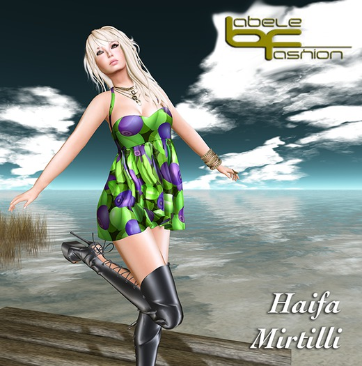 Babele Fashion :: Haifa Minidress Mirtilli