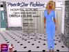 Porn*Star Fashions WOMENS BLUE Hospital Scrubs with OMEGA & SLINK appliers