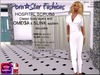 Porn*Star Fashions WOMENS WHITE Hospital Scrubs with OMEGA & SLINK appliers