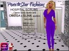 Porn*Star Fashions WOMENS PURPLE Hospital Scrubs with OMEGA & SLINK appliers