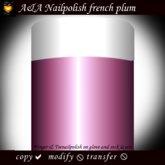 A&A Finger & Toenail Polish, french, plum, copyable