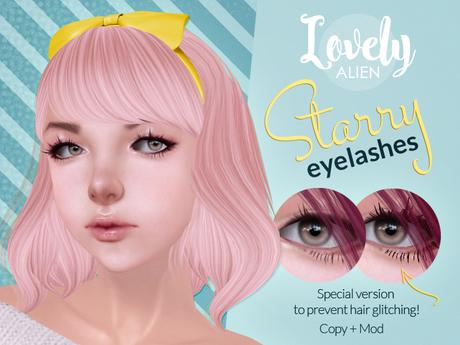 ((LovelyAlien)) Starry Eyelashes For Classic Avatars
