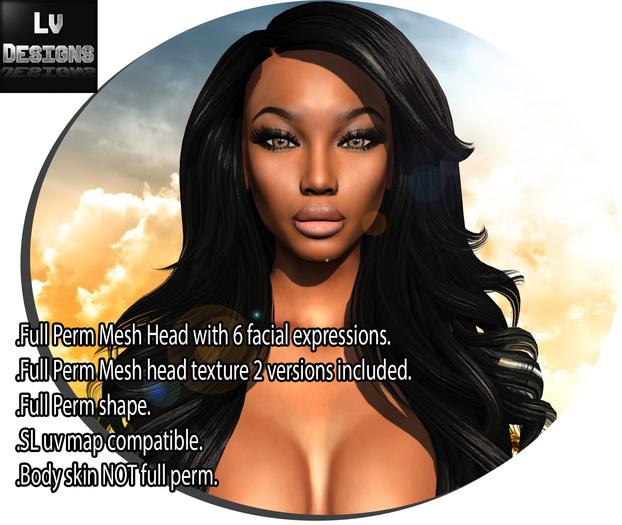 ::LV:. Ebony Mesh Head - Full Perm
