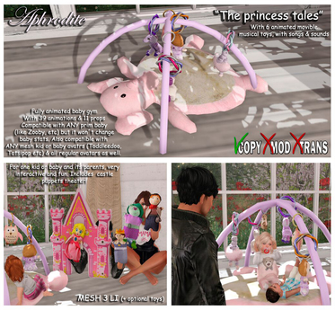 """<Heart Homes> """"The Princess Tales"""" Baby Gym (copy, Boxed)"""