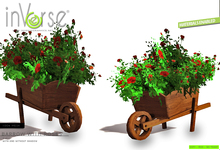 inVerse® MESH Flowerpot barrow with roses