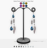 !Rebel Hope - Loriana Mesh Feather Earrings