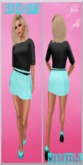.:f etiche petite:. Mesh Skirt Dress mint