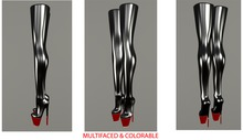 Overknee, tight, platform, latex boots