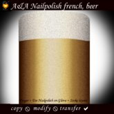 A&A Finger & Toenail Polish, french, beer colors, transferable