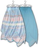 Graffitiwear Plaid Blue Gypsy Skirt Twinpack