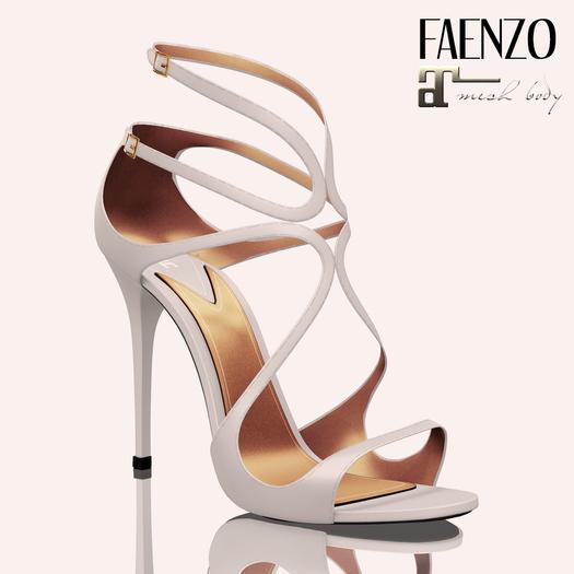 Faenzo Doux Strappy Sandals - White