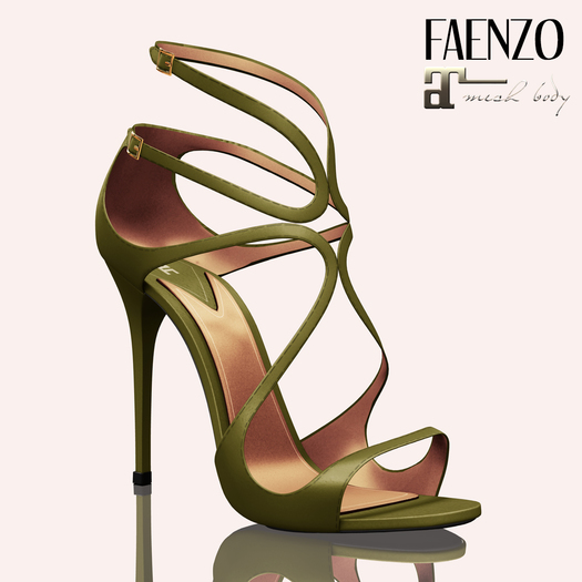 Faenzo Doux Strappy Sandals - Green