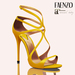 Faenzo Doux Strappy Sandals - Saffron