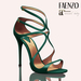 Faenzo Doux Strappy Sandals - Teal Green
