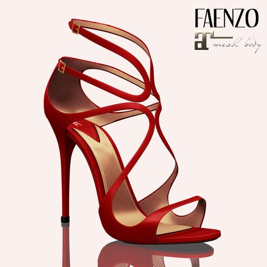 Faenzo Doux Strappy Sandals - Scarlet