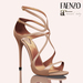 Faenzo Doux Strappy Sandals - Nude